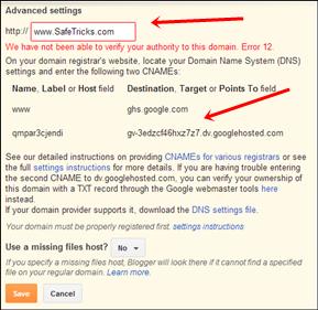 blogger domain verification