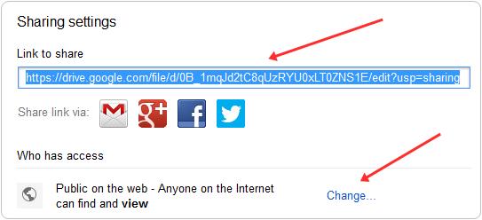 google drive file link