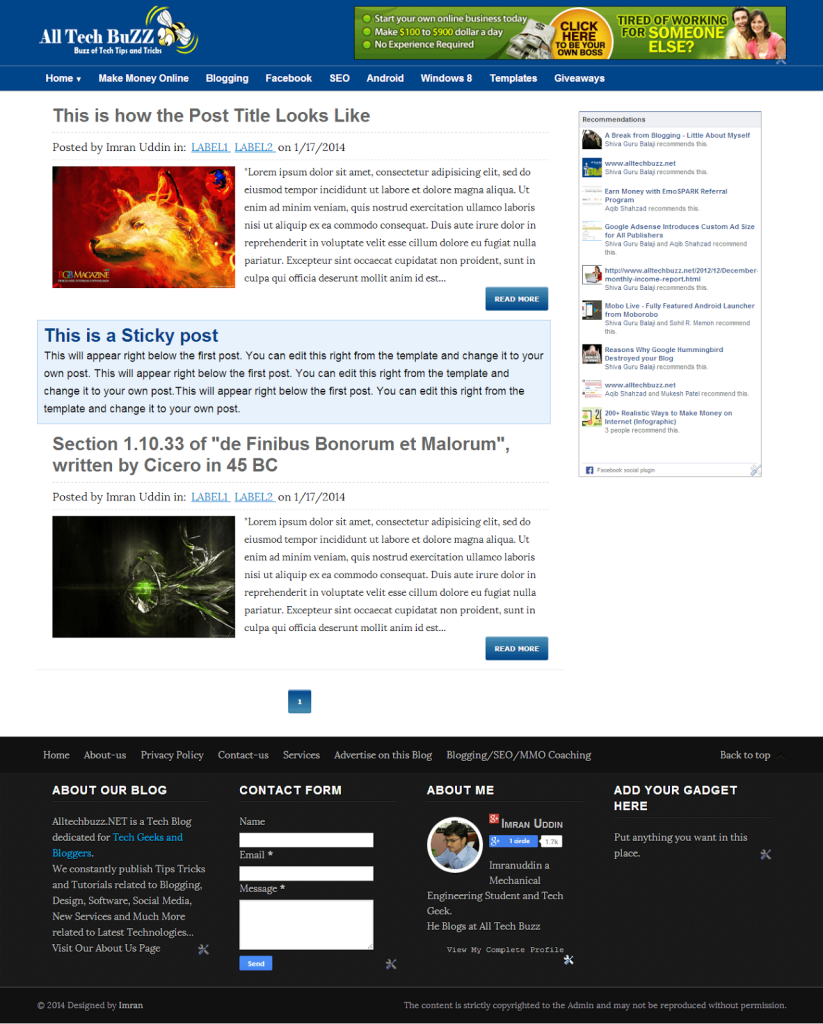 All tech buzz responsive blogger template