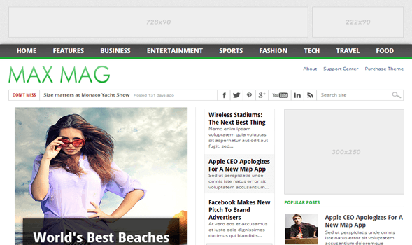 Max mag responsive blogger template