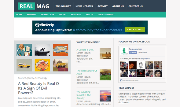 Real mag responsive blogger template