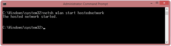 command to create WiFi hotspot in windows PC or laptop
