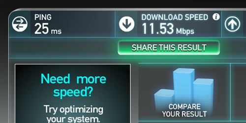Internet Speed.
