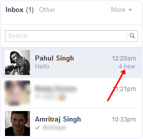 Facebook message unread after hide seen