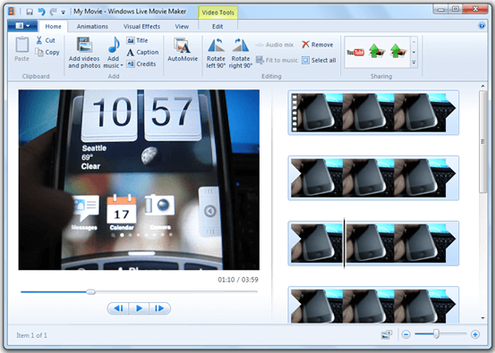 Windows Movie Maker (Free)