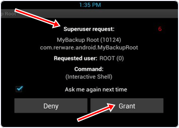 superuser request option android