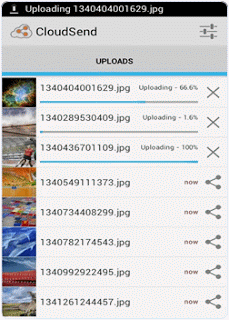 upload images on cloudsend