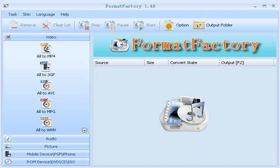Format Factory for windows pc