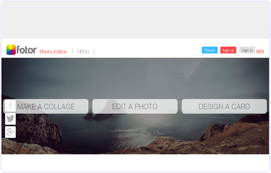 Fotor.com online photo editing website