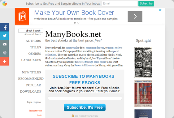 ManyBooks.net download free ebooks