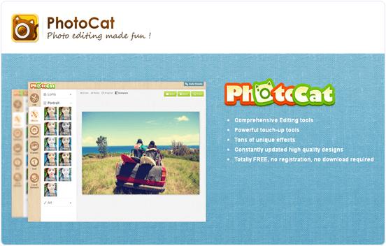Photocat.com online photo editing website