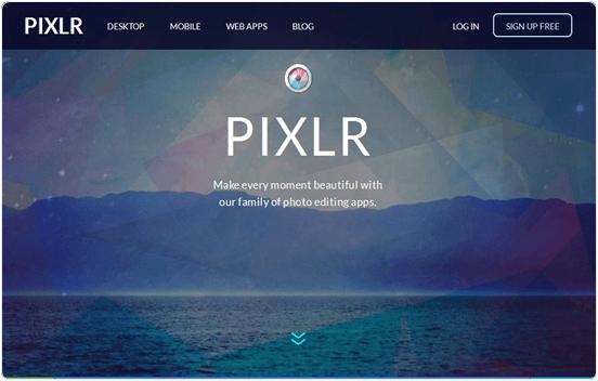 Pixlr.com online photo editing website