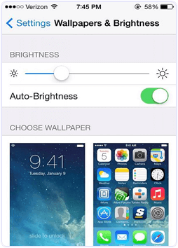 iPhone Turn On Auto Brightness