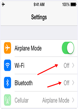 Turn Off Bluetooth WiFi to increase iPhone battery