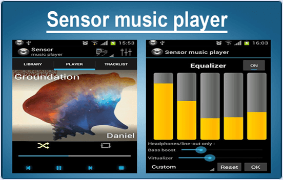 android Sensor Music player