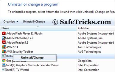 Uninstall Unwanted Programs windows