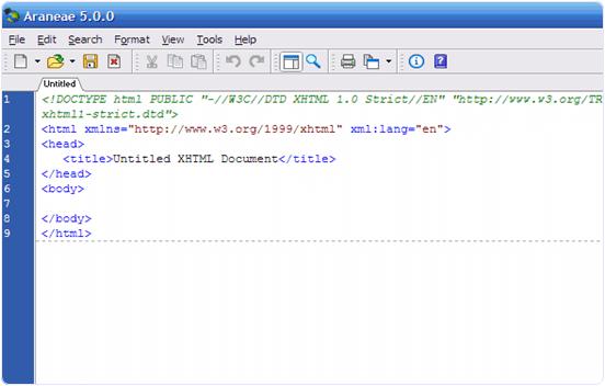 Araneae code editor