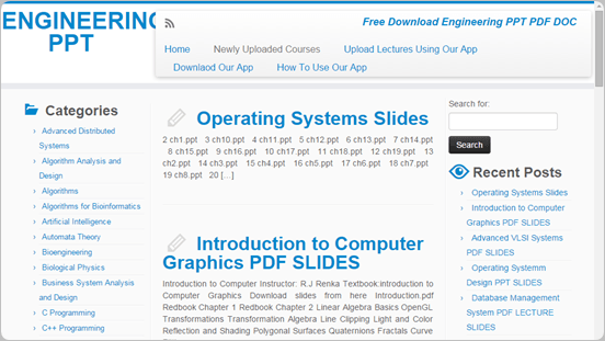 Engineeringppt.net find presentations