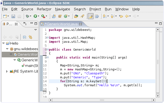 Eclipse Java Editor
