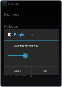 reduce brightness on android for battery life