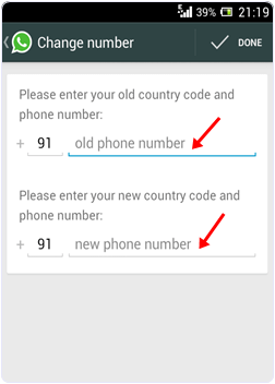 how to change your whatsapp number