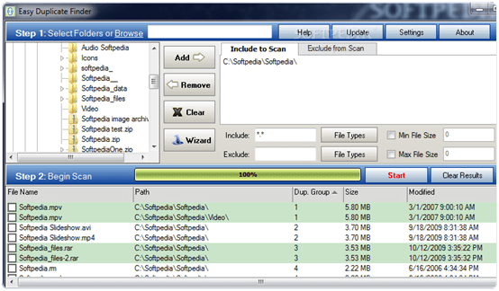 Easy Duplicate finder duplication file removing software