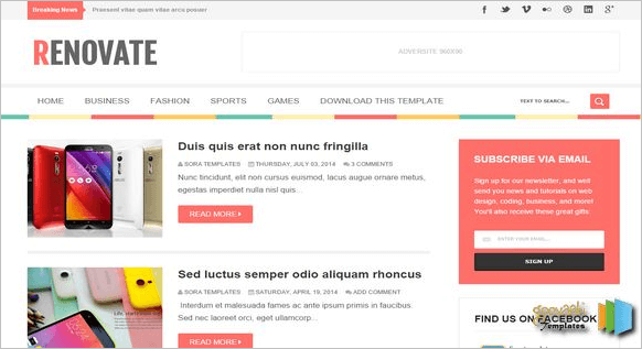Top best blogger templates 2016 top 25 newswebb renovate blogger template pronofoot35fo Gallery