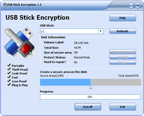 secure stick usb encryption software