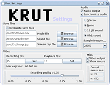 Krut Screen Recorder PC Software