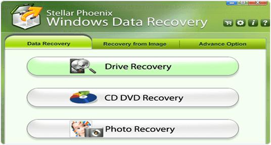 stellar phoenix data recovery interface