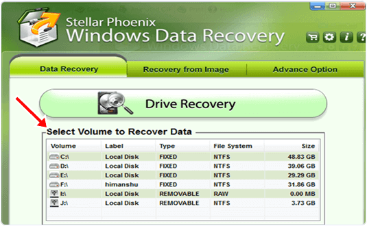 stellar phoenix data recovery feature