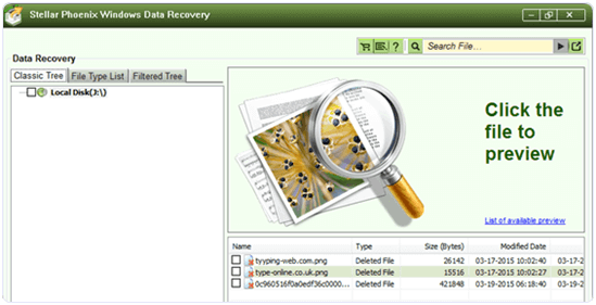 stellar phoenix data recovery files