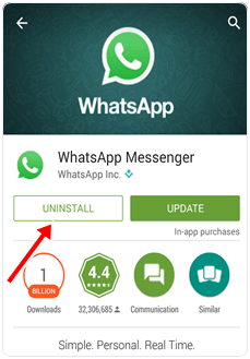 whatsapp uninstall