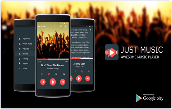 Just Music Player Android App