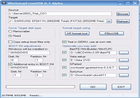 WinSetupFromUSB PC Software
