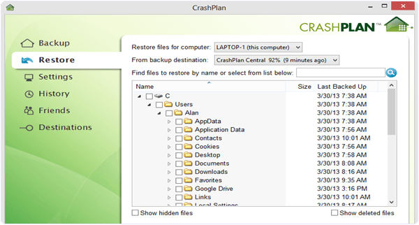 CrashPlan PC Software