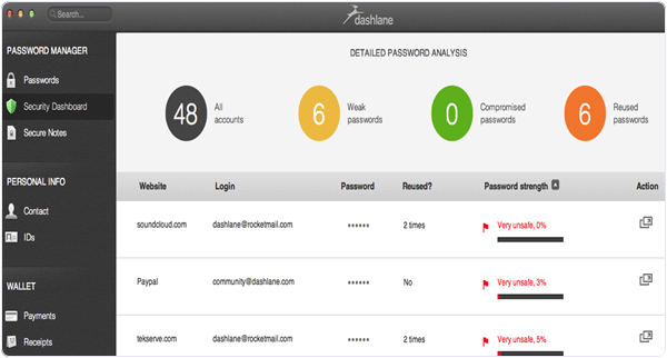 Dashlane PC Software