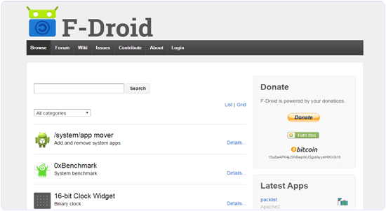 F-Droid App store