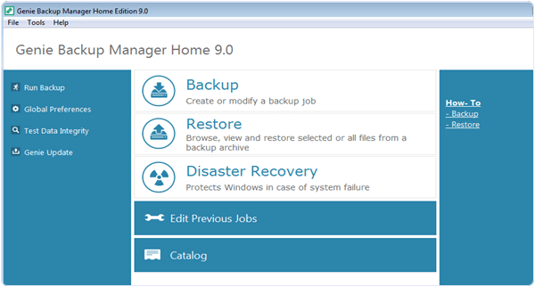 Genie Backup Home 9.0 PC Software