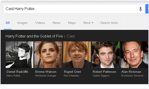 Google Find Actor Names