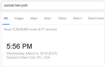 Google Sunrise And Sunset Time