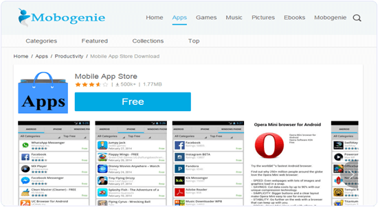 Mobogenie App store