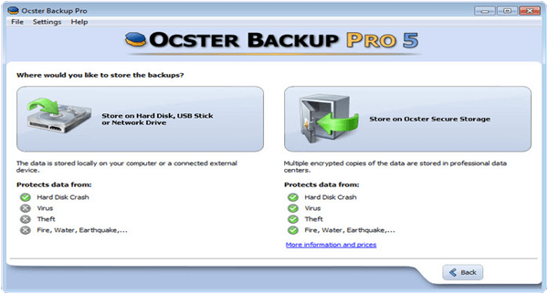 Ocster Backup Pro PC Software
