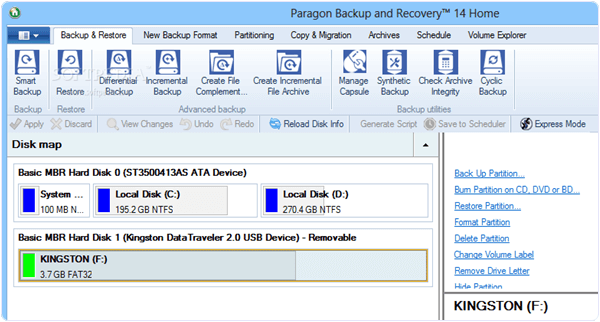 Paragon Backup and Recovery Home 15 PC Software