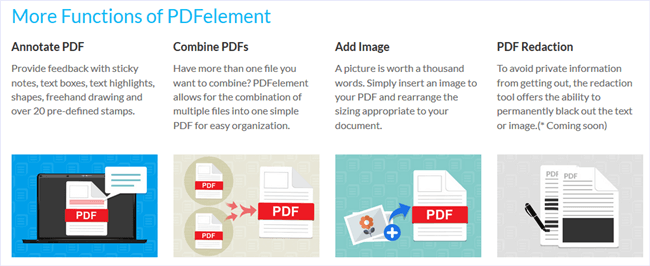 PDFelement other features