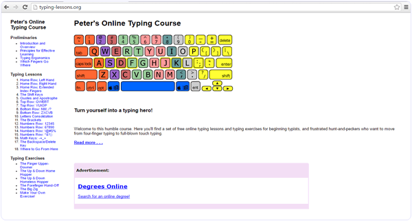 Typing-lessons.org