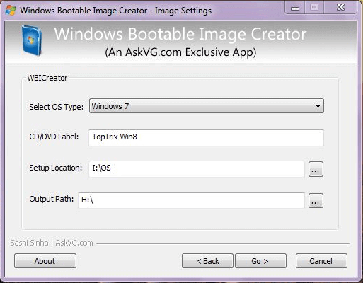 Windows Bootable Image Creator PC Software