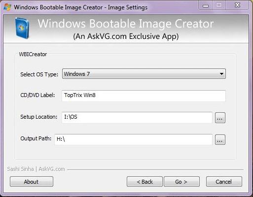 Windows Bootable Image Creator PC Software