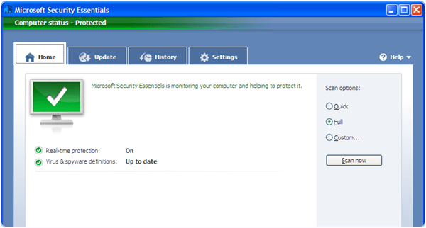 Microsoft Security Essential PC Software