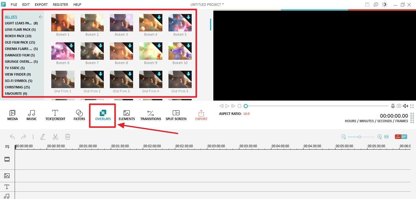 Filmora Overlays And Filters